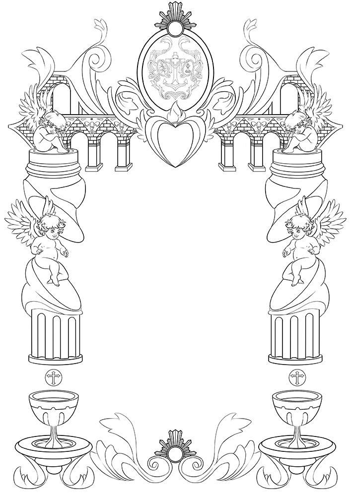 diseño de una orla de cultos