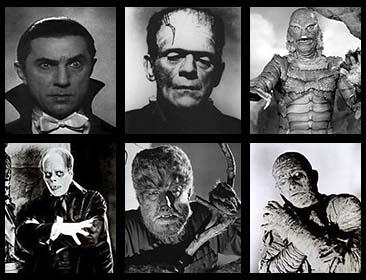 Monstruos ilustrados del cine